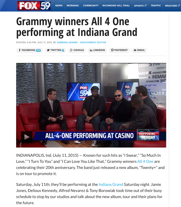 CLICK ON IMAGE ABOVE TO ENTER FOX INTERVIEW WITH ALL-4-ONE